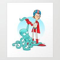 Octo-Wrestlin'! Art Print