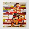 Glitch Pin-Up: Emma Canvas Print