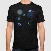 Colors: Blue (Los Colore… Mens Fitted Tee Tri-Black SMALL