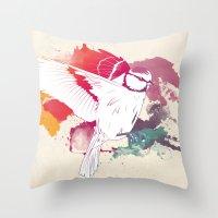 Bird Of Colour Throw Pillow