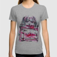 Fuck Machine Womens Fitted Tee Athletic Grey SMALL