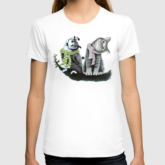 Cat and Owl T-shirt