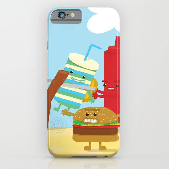 Vegetables vs. Fast food iPhone & iPod Case