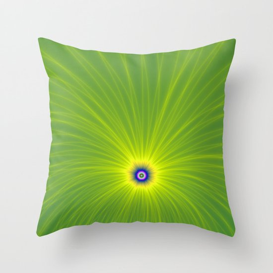 Color Explosion in Yellow and Green Throw Pillow