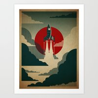 adventure Art Prints featuring The Voyage by The Art of Danny Haas