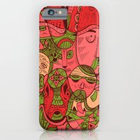iPhone & iPod Case featuring Faces Pattern by Hanna Ruusulampi