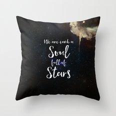Soul Full of Stars Throw Pillow