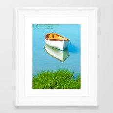 serene boat scene#3 Framed Art Print