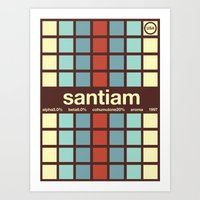 Santiam Single Hop Art Print