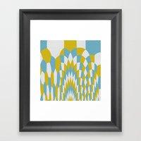 Honey Arches Yellow Framed Art Print