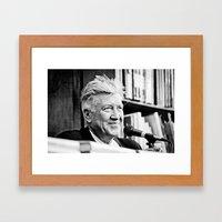 David Lynch (New York City, June 2011) Framed Art Print