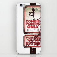 Zombie Parking Only iPhone & iPod Skin