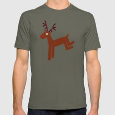 Reindeer-Green Mens Fitted Tee Lieutenant SMALL