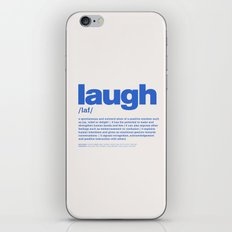 definition LLL - Laugh 7 iPhone & iPod Skin