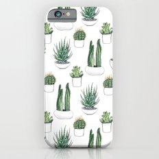 watercolour cacti and succulent iPhone 6s Slim Case