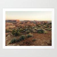 Monument Valley Morning Art Print
