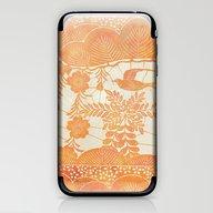 iPhone & iPod Skin featuring Flying Bird In Orange by Durin Eberhart