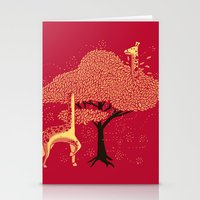 Lost in Africa Stationery Cards