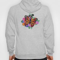 Orange Butterfly Hoody