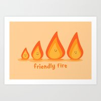 Friendly Fire Art Print