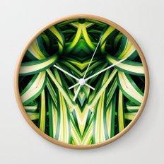 50 Shades of Green (3) Wall Clock
