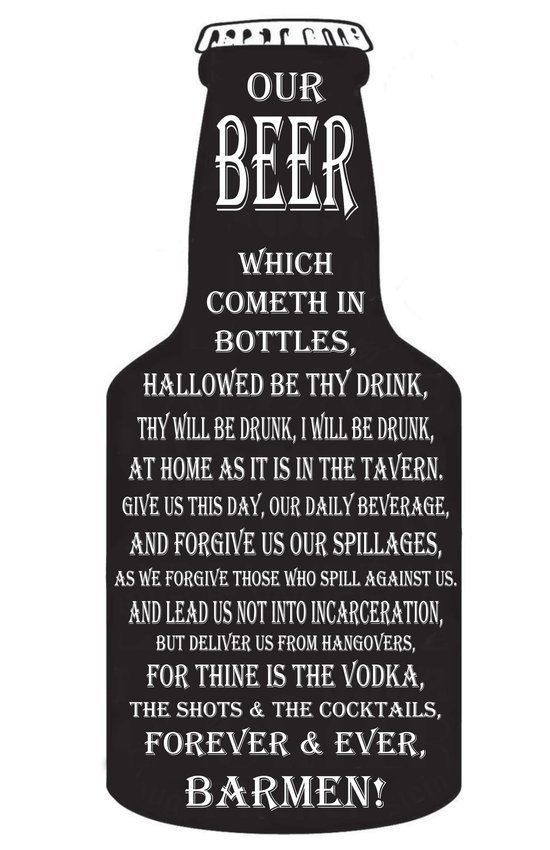 BEER PRAYER Art Print