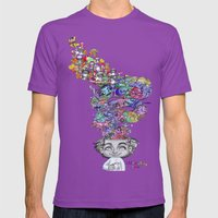 uninstalling my mind  Mens Fitted Tee Ultraviolet SMALL
