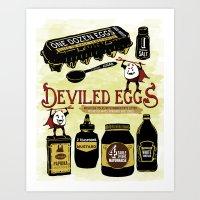 Deviled Eggs Art Print