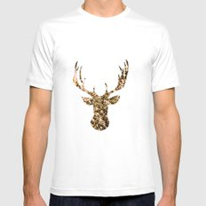 deer flowers White Mens Fitted Tee SMALL