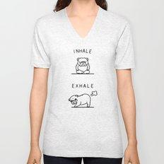 Inhale Exhale English Bulldog Unisex V-Neck
