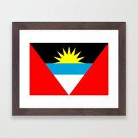 Antigua and Barbuda country flag Framed Art Print