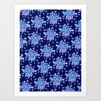 Zero Gravity Crystals Art Print