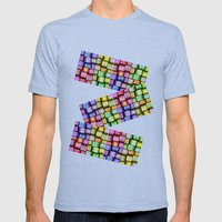 Modern Pattern Design Mens Fitted Tee Tri-Blue SMALL