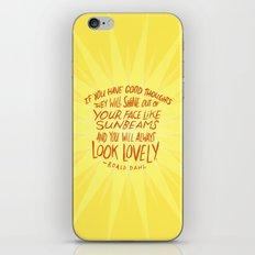 Roald Dahl on Positive Thinking iPhone & iPod Skin
