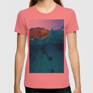 St Tropez Sea One Womens Fitted Tee Pomegranate SMALL