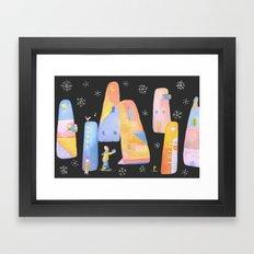 Sending you love Framed Art Print