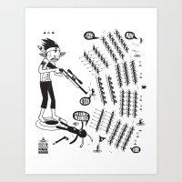 SORRY I MUST RUN - ULTIM… Art Print