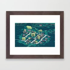 EarthBound - Town Of One… Framed Art Print
