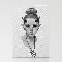 Monster Girl #3a Stationery Cards