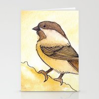 Yellow Black-capped Chickadee Stationery Cards