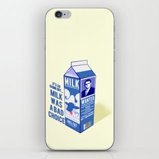 Milk was a Bad Choice ~ Brick Wanted (Anchorman) iPhone & iPod Skin