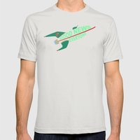 Good News Everyone Mens Fitted Tee Silver SMALL