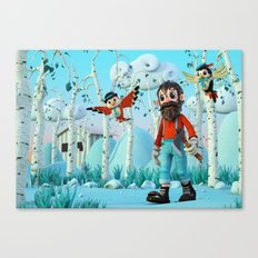 Tin Timber & The Blue Magic Forest Canvas Print