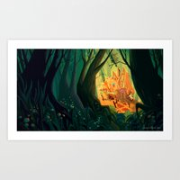 The Candy House Art Print