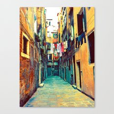 Laundry and Door Canvas Print