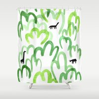 Animals in the forest Shower Curtain