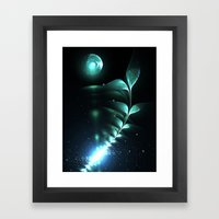 Alien Plant Framed Art Print