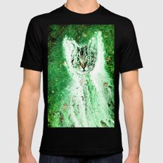 Meow Cat Universe Mens Fitted Tee SMALL Black