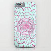 iPhone & iPod Case featuring blue&pink by Taylor St. Claire