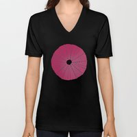 Sea's Design - Urchin Skeleton (Deep Pink) Unisex V-Neck